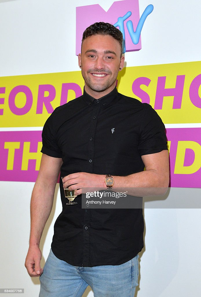 Ricci Guarnaccio of Geordie Shore celebrate their fifth birthday at MTV London on May 24, 2016 in London, England.