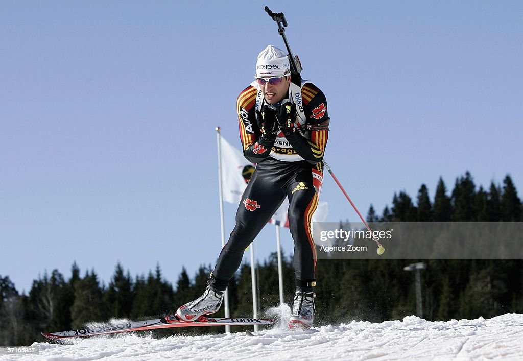 Ricco Gross of Germany in action during the IBU Biathlon World Cup Men's 10km Sprint on March 23, 2006 in Holmenkollen, Norway.