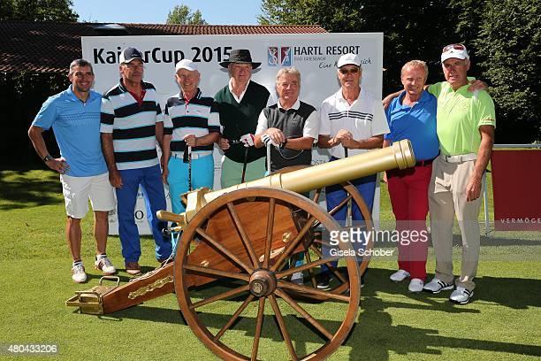 Ricco Gross Sascha Hehn HansDieter Cleven Alois Hartl Karl Reyer Franz Beckenbauer Peter Angerer Fritz Fischer during the Kaiser Cup 2015 golfcup and...