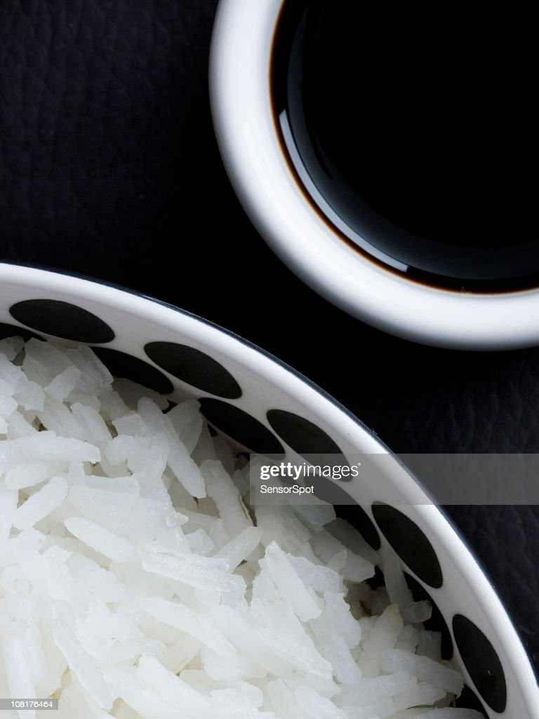 Rice and soy sauce