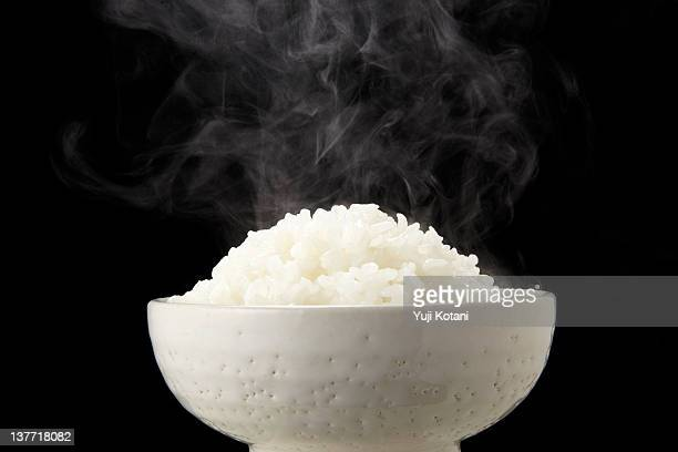 Rice and steam