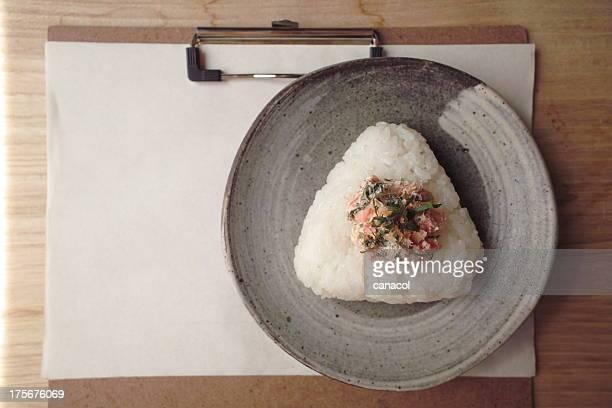 Rice ball/salmon and cream cheese