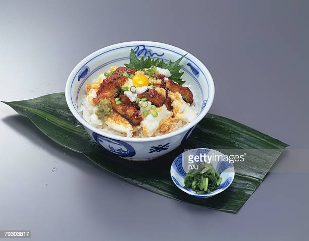 Rice Bowl Dishes, High Angle View