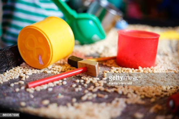 Rice crispies and wooden hammers activities