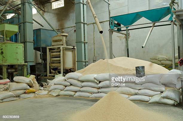 Rice filtration inside Rice mill