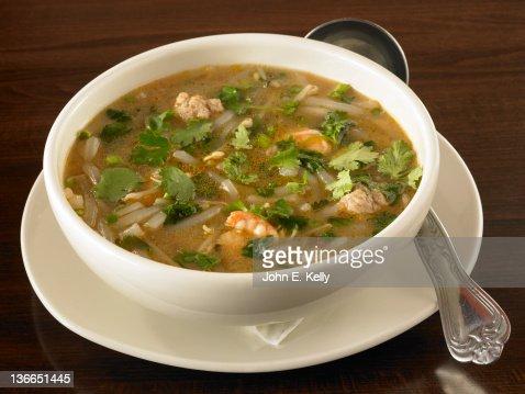 Rice Noodle Soup : Stock Photo