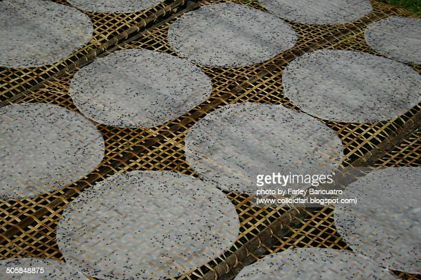Rice paper being sundried
