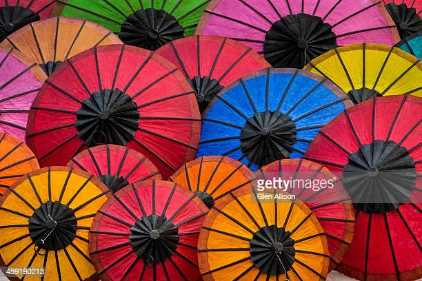 Rice paper umbrellas