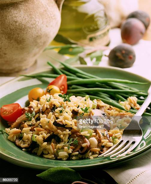 Rice Pilaf with olives and mushrooms