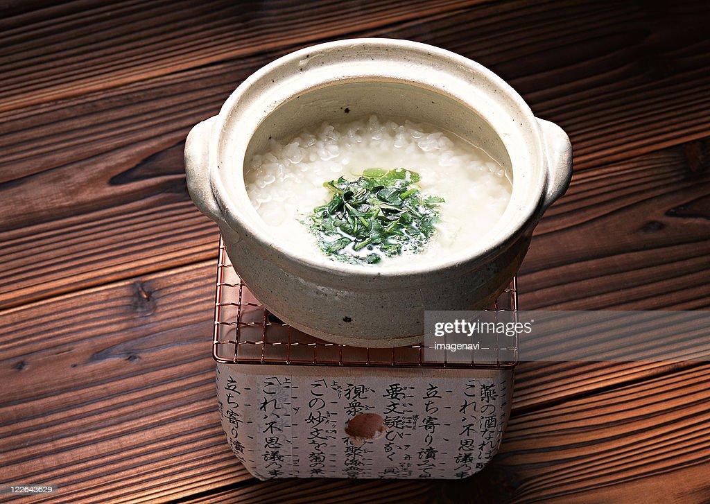 Rice Porridge with Seven Cereals : Stock Photo