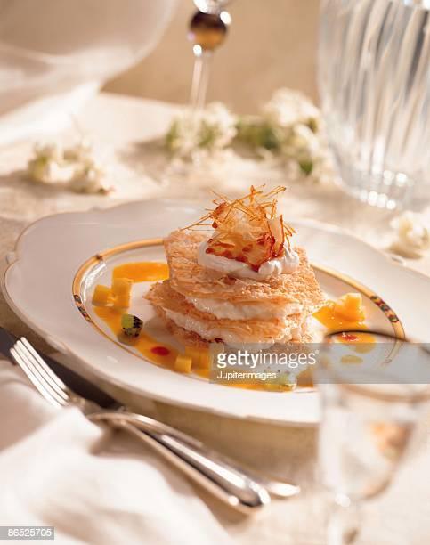 Rice pudding napoleon