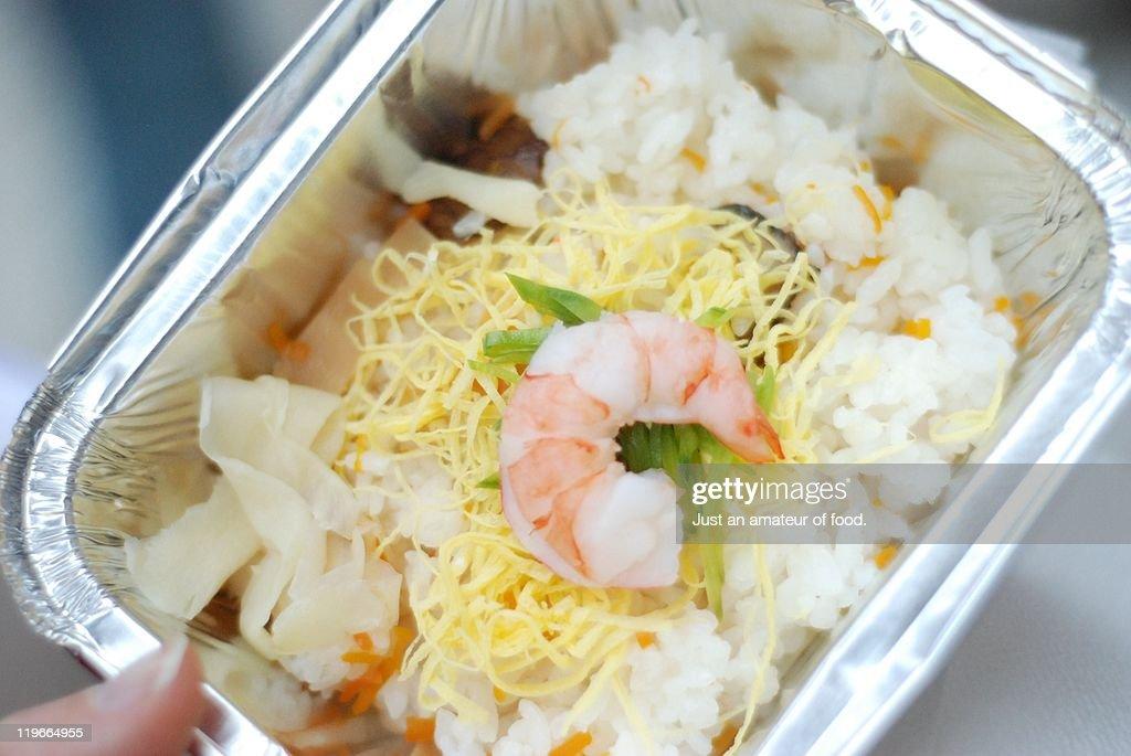 Rice & shrimp : Stock Photo
