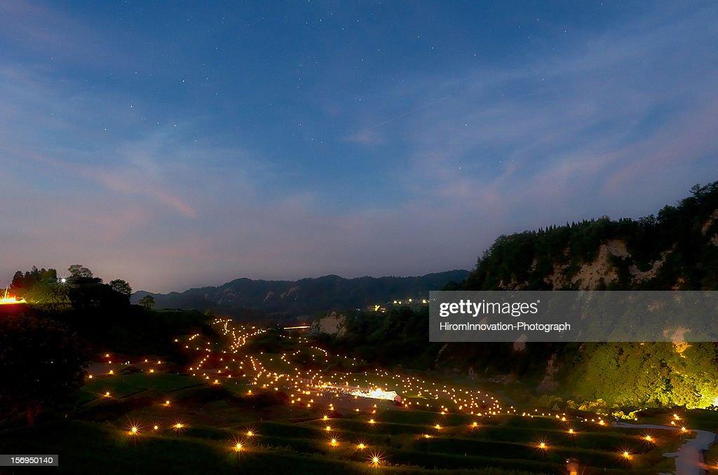 Rice Terraces of the Shika-mura : Stock Photo
