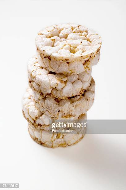 Rice wafers, in a pile