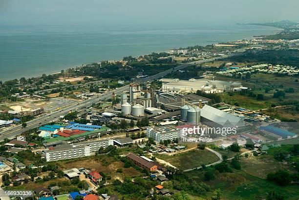 SRIRACHA CHONBURI THAILAND Rice warehouse near Sri Racha close to the Gulf of Thailand