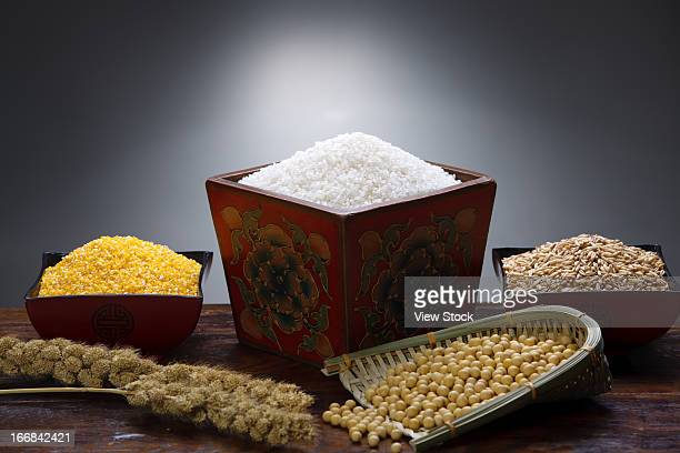 Rice,soybean and corn