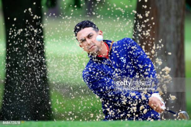 Rich Berberian Jr of the United States PGA Cup Team in action during the Singles Matches on Day 3 of the 28th PGA Cup Matches played at Foxhills Golf...