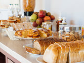 Italian continental breaksfast with natural products