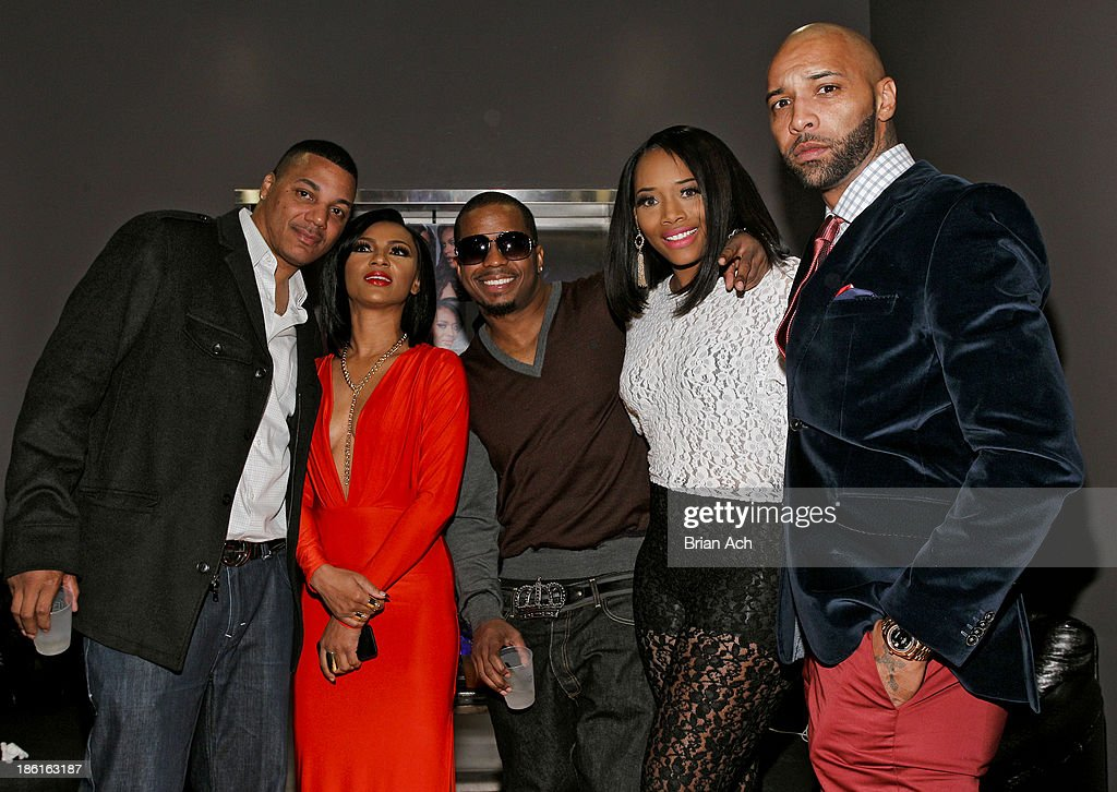 Rich Dollaz, Tara Wallace, Saigon, Yandy Smith, and <a gi-track='captionPersonalityLinkClicked' href=/galleries/search?phrase=Joe+Budden&family=editorial&specificpeople=2277394 ng-click='$event.stopPropagation()'>Joe Budden</a> appear at the VH1 'Love & Hip Hop' Season 4 Premiere at Stage 48 on October 28, 2013 in New York City.