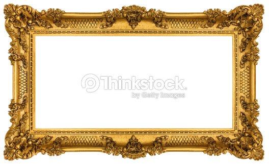 58edb265cac Rich Golden Frame Isolated On White Background Stock Photo