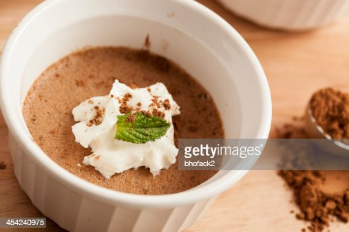 Rich Gourmet Homemade Chocolate Mousse Dessert : Stock Photo
