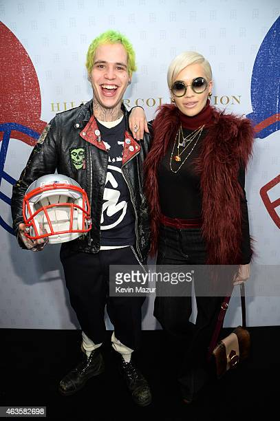 Rich Hilfiger and Rita Ora backstage at Tommy Hilfiger Women's Collection during MercedesBenz Fashion Week Fall 2015 at Park Avenue Armory on...