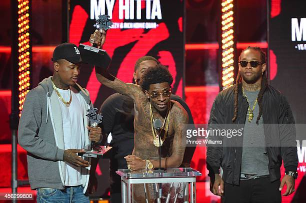 YG Rich Homie Quan and Ty Dolla $ign at the BET Hip Hop awards at Boisfeuillet Jones Atlanta Civic Center on September 20 2014 in Atlanta Georgia