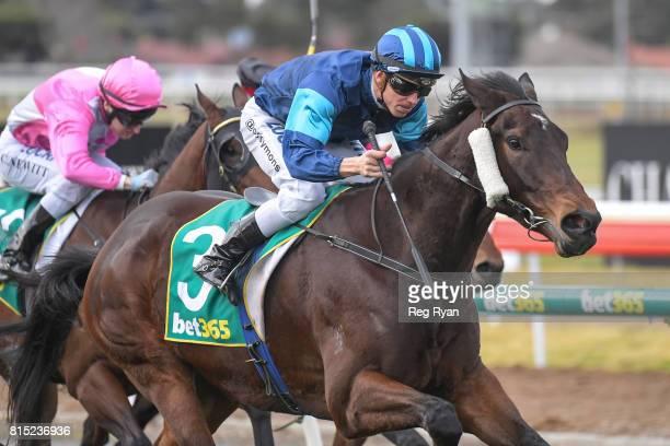 Rich Luck ridden by Chris Symons wins the Clark Rubber Geelong BM78 Handicap at Geelong Racecourse on July 16 2017 in Geelong Australia