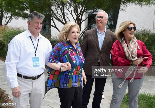 Rich McPhee President and CEO of The Annenberg Foundation Wallis Annenberg Owner of JBB Productions Ben Bourgeois and Executive Director of the...
