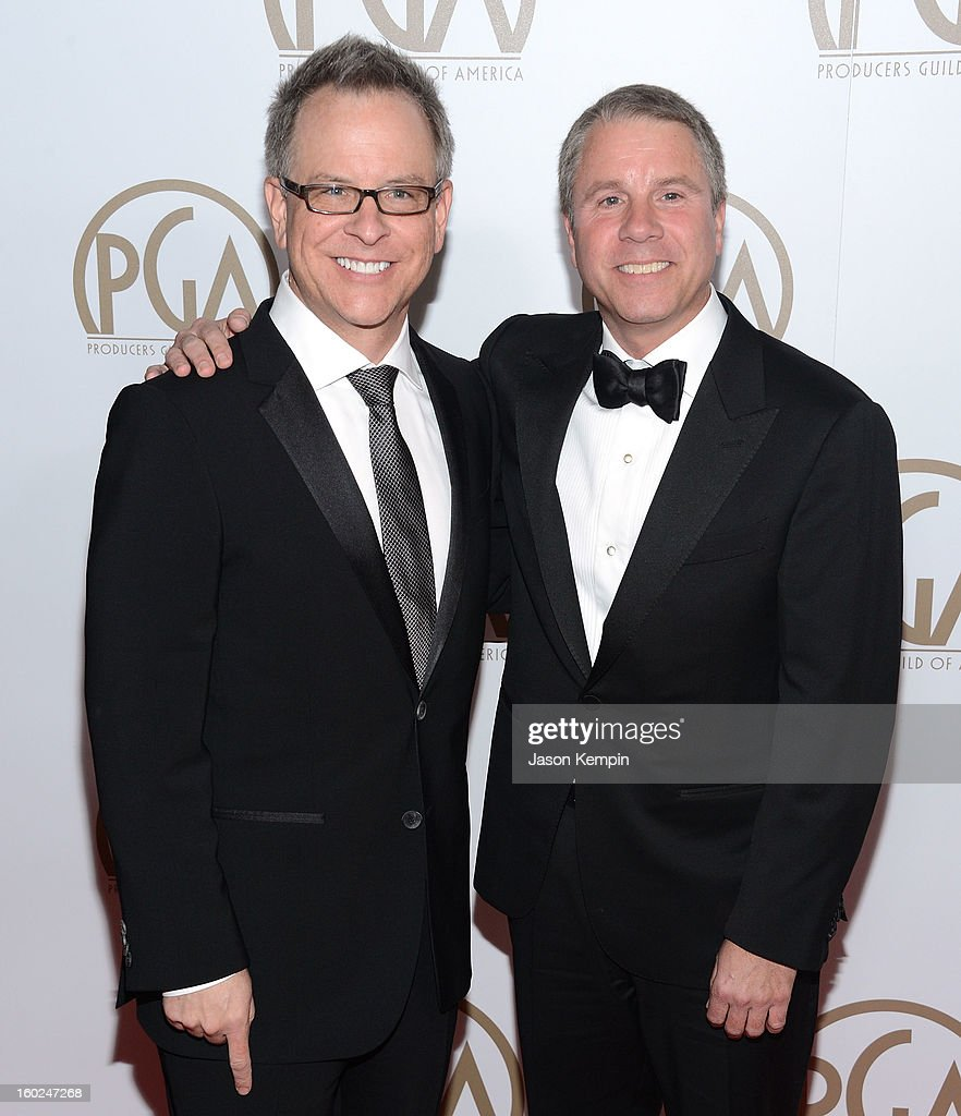 Rich Moore and Clark Spencer attend the 24th Annual Producers Guild Awards at The Beverly Hilton Hotel on January 26, 2013 in Beverly Hills, California.