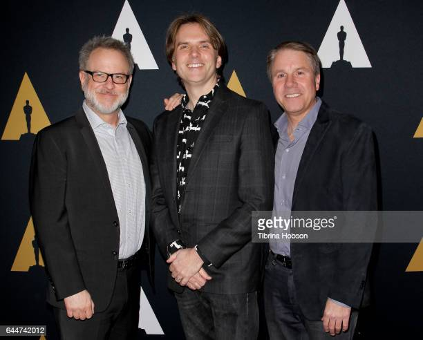 Rich Moore Byron Howard and Clark Spencer attend the 89th Annual Academy Awards Oscar Week celebration for Animated Features at Samuel Goldwyn...
