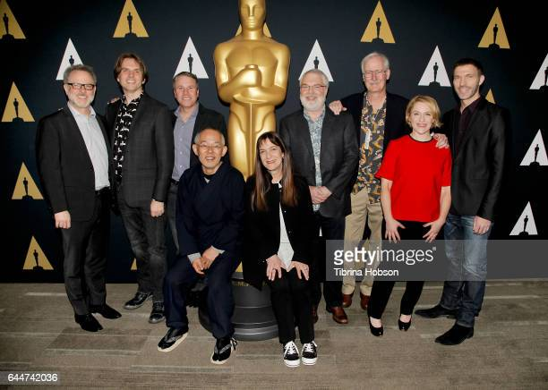 Rich Moore Byron Howard Clark Spencer Toshio Suzuki Osnat Shurer Ron Clements John Musker Arianne Sutner and Travis Knight attend the 89th Annual...