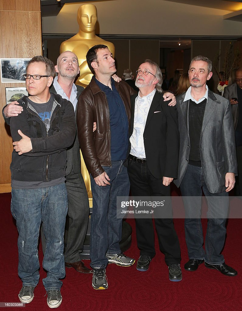 Rich Moore, Chris Butler, Mark Andrews, Peter Lord and Sam Fell attend the Oscar Celebrates: Animated Features Reception held at the AMPAS Samuel Goldwyn Theater on February 21, 2013 in Beverly Hills, California.