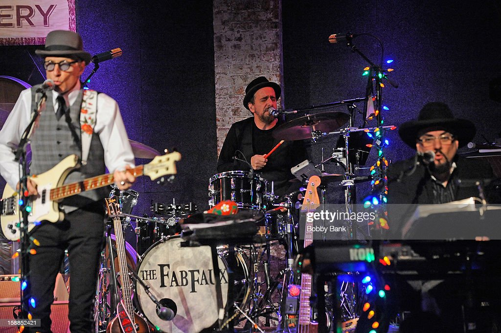 Rich Pagano, Jimmy Vivino and Will Lee of Fab Faux perform at City Winery on December 31, 2012 in New York City.