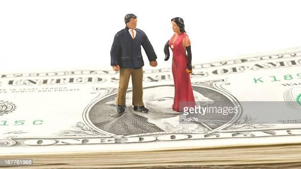 Reiche Personen abstrakte Figuren