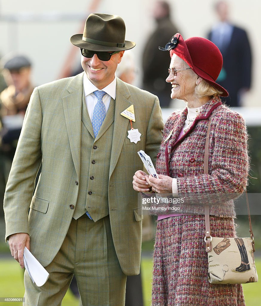 Rich Ricci and Maureen Mullins attend the November Meeting at Ascot Racecourse to watch Susannah Ricci's horse Annie Power run in the Coral Hurdle Race on November 23, 2013 in Ascot, England.