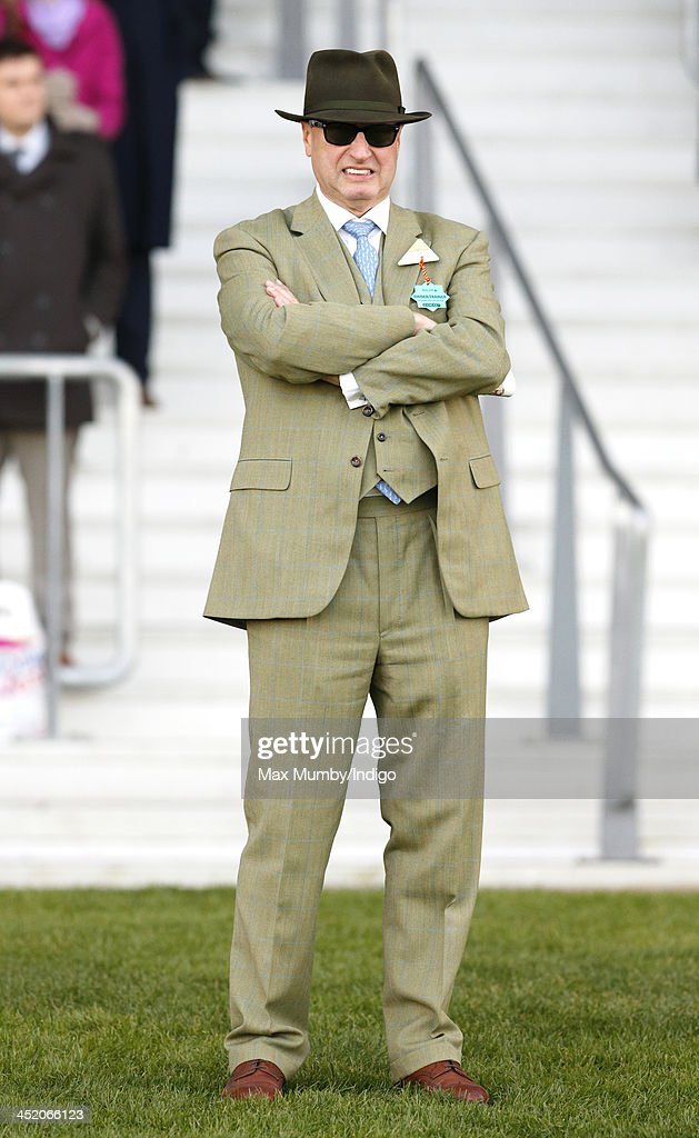 Rich Ricci watches his wife Susannah Ricci's horse Annie Power run in the Coral Hurdle Race at Ascot Racecourse on November 23, 2013 in Ascot, England.