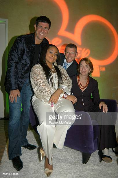 Rich Ross RavenSymone Adam Sanderson and Eleo Hensleigh attend RavenSymone of Disney Channel's 'That's So Raven' Fragance and Cosmetic Launch for...