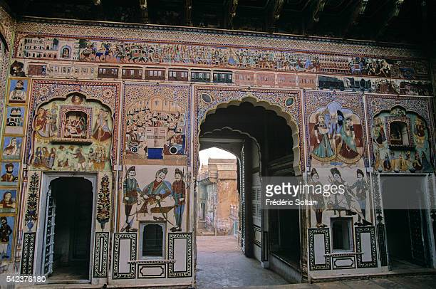 Rich Shekhawati merchants built magnificent houses in the 19th century They were decorated with frescoes to illustrate their power