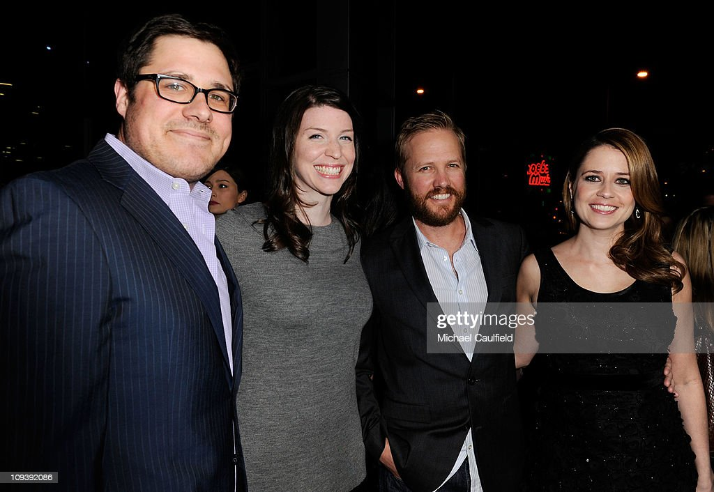 <a gi-track='captionPersonalityLinkClicked' href=/galleries/search?phrase=Rich+Sommer&family=editorial&specificpeople=4406963 ng-click='$event.stopPropagation()'>Rich Sommer</a>, Virginia Donohoe, <a gi-track='captionPersonalityLinkClicked' href=/galleries/search?phrase=Lee+Kirk&family=editorial&specificpeople=6364170 ng-click='$event.stopPropagation()'>Lee Kirk</a> and <a gi-track='captionPersonalityLinkClicked' href=/galleries/search?phrase=Jenna+Fischer&family=editorial&specificpeople=274744 ng-click='$event.stopPropagation()'>Jenna Fischer</a> attend the Los Angeles Premiere of 'Hall Pass' held at ArcLight Cinemas Cinerama Dome on February 23, 2011 in Hollywood, California.