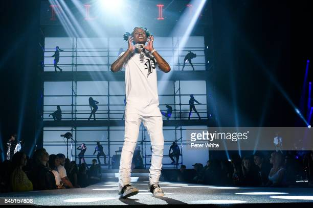 Rich The Kid walks the runway at the Philipp Plein fashion show during New York Fashion Week The Shows at Hammerstein Ballroom on September 9 2017 in...