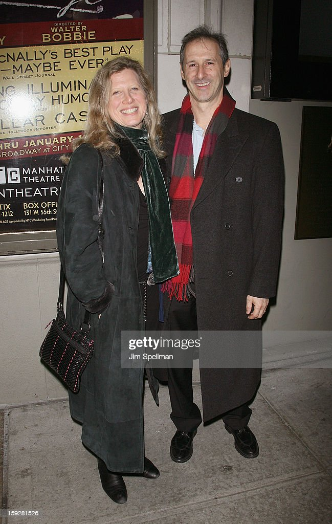 Rich Topol (R) and guest attend 'The Other Place' Broadway opening night at the Samuel J. Friedman Theatre on January 10, 2013 in New York City.