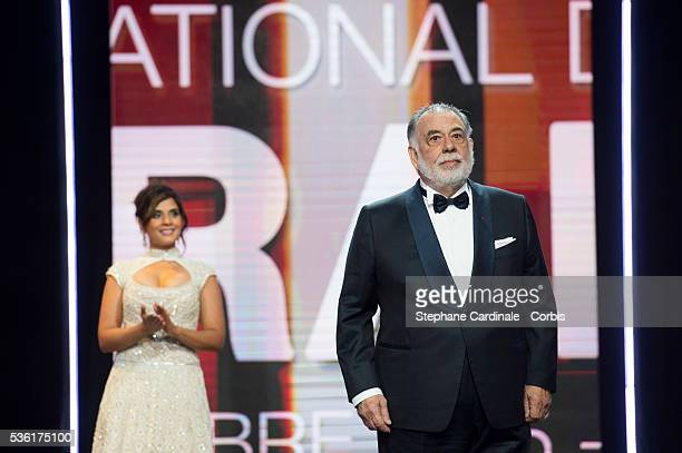 Richa Chadda and Francis Ford Coppola attend the Opening Ceremony of the 15th Marrakech International Film Festival on December 4 in Marrakech Morocco