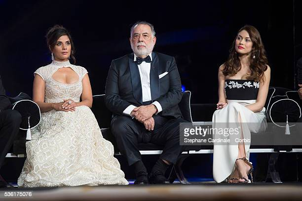 Richa Chadda Francis Ford Coppola and Olga Kurylenko attend the Opening Ceremony of the 15th Marrakech International Film Festival on December 4 in...
