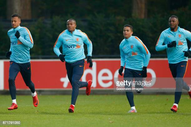 Richairo Zivkovic of Holland U21 Gervane Kastaneer of Holland U21 Justin Kluivert of Holland U21 Riechedly Bazoer of Holland U21 during the match...