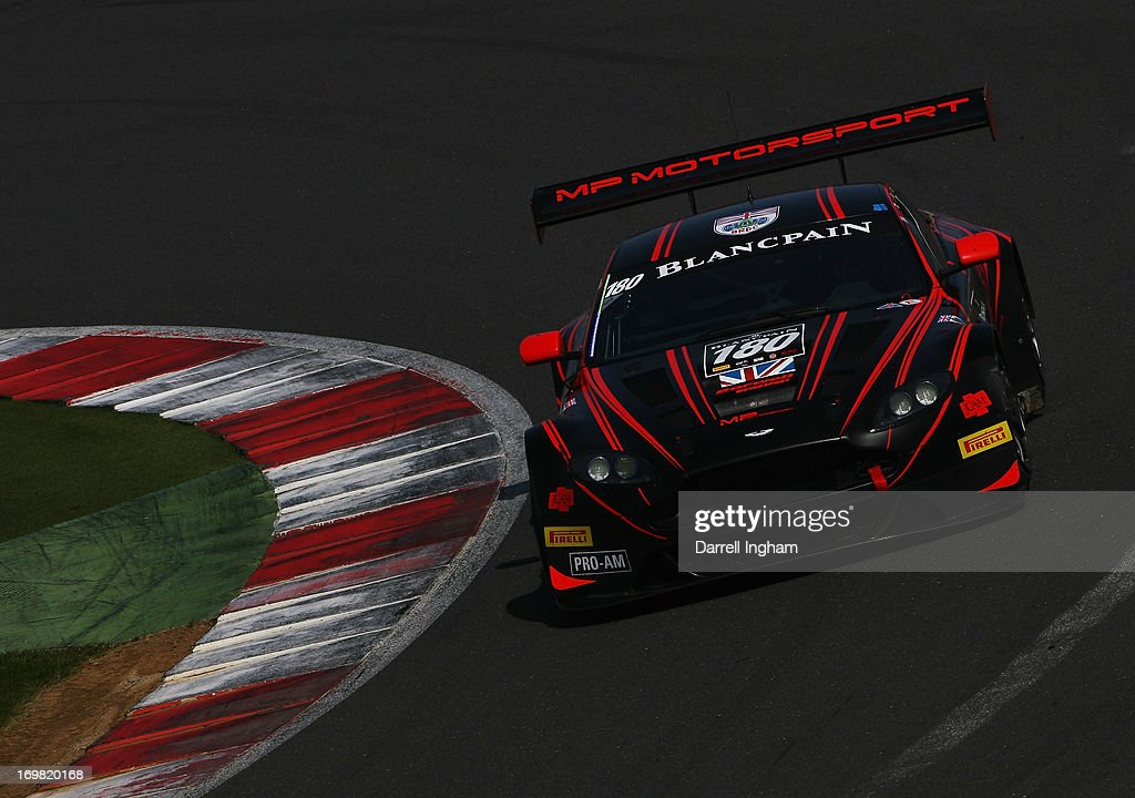 Richard Abra drives the Barwell Racing Aston Martin Aston Martin Vantage GT3 during the Blancpain Endurance GT Series race at the Silverstone Circuit...