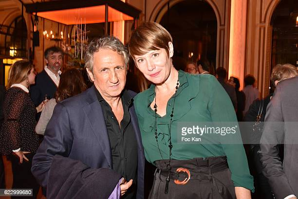 Richard Anconina and Maitena Biraben attend the Cocktail Party at the Hermitage Hotel as part of 'Cinema Et Musique De Film 2016' 3rd Festival At La...