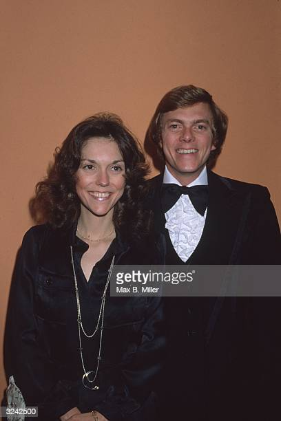 Richard and Karen Carpenter of the American brother and sister pop duo the Carpenters at an ABCTV Party at the Century Plaza Hotel Los Angeles...