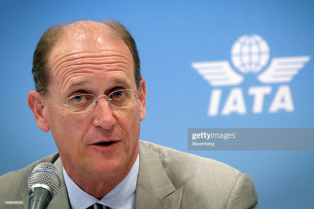 Richard Anderson, chief executive officer of Delta Air Lines, speaks during the International Air Transport Association's (IATA) annual general meeting in Cape Town, South Africa, on Tuesday, June 4, 2013. Airline earnings will be 20 percent higher this year than forecast just three months ago as capacity cuts help pack planes to record levels, the International Air Transport Association said today. Photographer: Nadine Hutton/Bloomberg via Getty Images