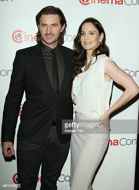 Richard Armitage and Sarah Wayne Callies attend Warner Bros Pictures' The Big Picture an Exclusive Presentation at Cinemacon 2014 Day 4 held at The...